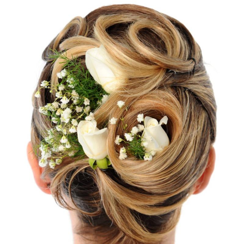 Свадебная прическа для блондинок с фатой фото